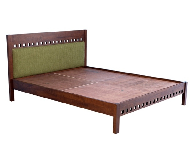 Solid walnut king size 4 poster bed