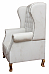 Royal White :: Wing Chair for Kings