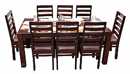 Woodland Wonder Dining Table (6 Seater) :: Indo Fusion