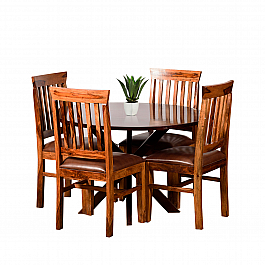 Blackie Dining Table with Chairs :: Ever Elegant