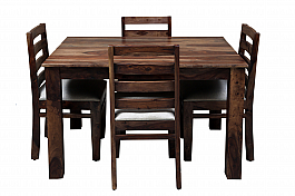 Nectar Modern Wooden Dining Table set with 4 chair and bench