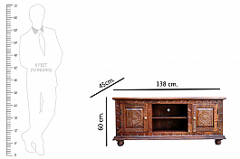 Wooden Extendable Entertainment Unit