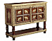 Indigo Cabinet solid wood Brass fitted Ethnic furniture