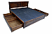 Sylvia Solid wood King Drawer storage Bed