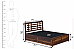 Easter induscraft storage wooden bed King size