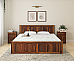 Yeshua Solid Wood Queen Size Bed
