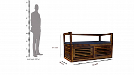 Yesteryears Shoe Rack With Bench :: Retro