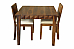 Antilia solid wood 2 seater dining set