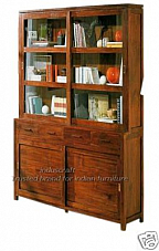 Wooden Glass Office Bookcase