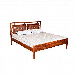 Rio Modern Bed Queen Size with Classy upholstered Back