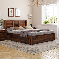 Disa Induscraft Sheesham wood Storage bed Queen Size