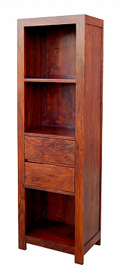 Two Drawer Wooden Bookcase
