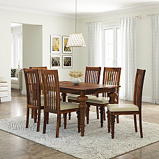 Smorroco Solid wood dining set (6 Seater)