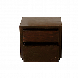 Spanish 2 drawer Bedside cabinet, smart Bedroom storage