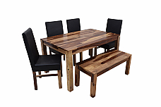 Blackie and Two Toned :: Dining Table with Bench