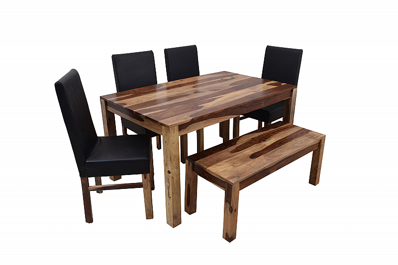 Tremendous Blackie And Two Toned Dining Table With Bench Interior Design Ideas Oxytryabchikinfo