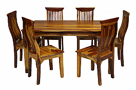 Kautilya Dining table set of 6 chair Honey teak