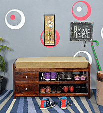 Georgia Shoe Rack with Bench and Storage :: Classic