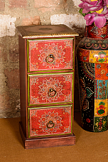 Tower of Drawer Stylish fusion of Metal and Hand painting