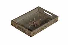Happy Diwali Decor : Atticus Serving Tray Hand painted Modern Decor *Ready to ship