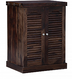 Justyana Wine cabinet Sheesham wood provincial teak finish