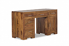 Marina Mod Designer Study table wooden Honey teak finish