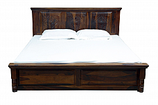 Indigo king Size Bed with Half Storage give designer to your room
