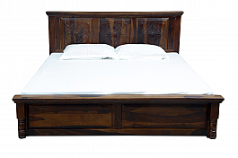 Indigo Queen Size Bed with half storage give designer to your room