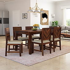 CINTEE SOLID WOOD 6 SEATER DINING SET - NEW ARRIVAL