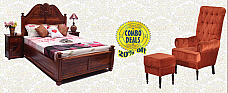 London Love Bed With Victorian Chair-Spacial Combo Offer