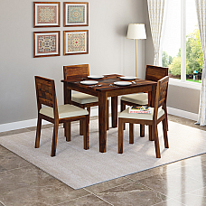 Antilia Glass Top 4 Seater Dining Set