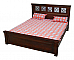 PANCHAM Bed Spanish  flavour King Size Wooden bed :: Flower motif headboard