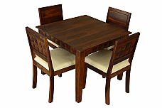 Antilia solid wood 4 seater dining set.