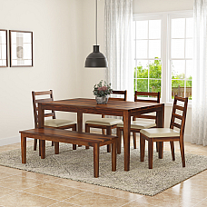 Siner Solid wood 6 Seater Dining Set - NEW ARRIVAL
