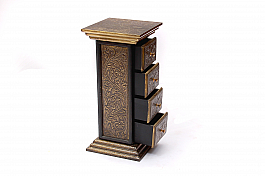 Royal Chest of 4 drawer Brass fitted ethnic arrival