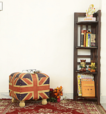 CORNER FOLDABLE BOOKSHELF::SHEESHAM WOOD