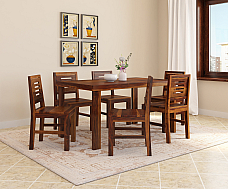 Lama Solid Wood Six Seater Dining Set