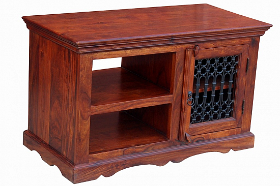 Open Two Shelf Media Cabinet