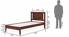 Glaynicus Single Bed Simply beautiful Modern Wooden bed
