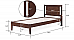 Dhyani Single Bed Simply beautiful Modern wenge finish Wooden bed