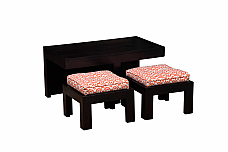 KHIMSAR 2 STOOL AND TABLE SET