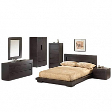 Brown Sheesham wood Bedroom Set