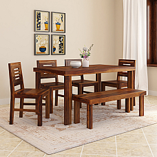 Lama Six seater dining set with Bench