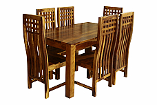 KQ DESGINER SOLID WOOD 6 SEATER DINING SET