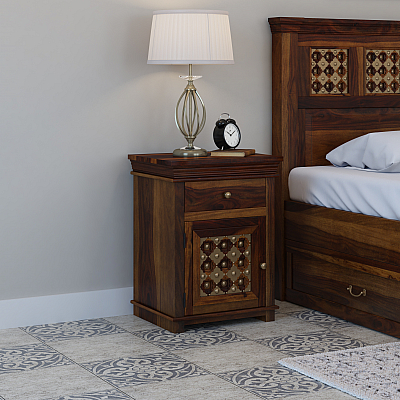 FUSION SOLID WOOD BEDSIDE