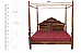 Sarabjeet Four poster Canopy Bed Queen Size Antique Style