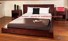 Modern Seesham Wood Platform bedroom Set