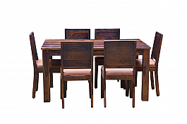 Arabia Upholstered  six seater dining set.