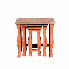 Orange Tradition Side Tables  :: Roots Rerun