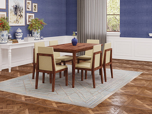 Lawrence Dining Set of 6 chair table Modern furniture